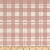 Riley Blake Yes Please Plaid Cream Metallic