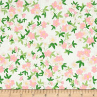 Riley Blake Safari Party Floral Sparkle White