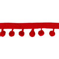 "3/4"" Pom Pom Home Trim Red"