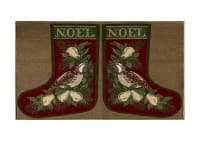"Holiday Joy Jacquard Easy Sew Stocking Template Panel Noel 27"" X 18.8"""