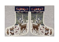 "Holiday Joy Jacquard Easy Sew Stocking Template Panel Deer & Church 27"" X 18.61"""