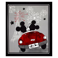 "Disney Mickey & Minnie Vintage Evening Out 36"" Panel Multi"