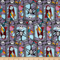 Disney Nightmare Before Christmas Sally And Jack Stained Glass Multi
