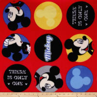 Disney Mickey There Is Only One Fleece Red