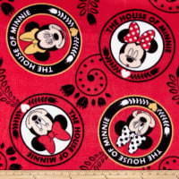 Disney Minnie House Of Minnie Fleece Red