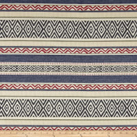 AMERICAN MADE Artistry Tribal Southwest Stripe Jacquard Las Cruces Navy