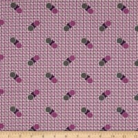 Penny Rose Sorbet Spots on Grid Purple