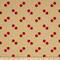 Penny Rose Sorbet Spots on Grid Yellow