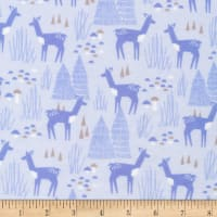 Cloud 9 Organic Flannel Field Day Roam Free Blue