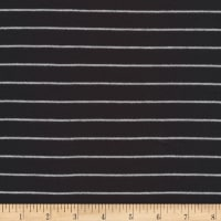 Cloud 9 Organic Interlock Knit Stripes Black