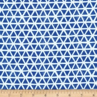 Cloud 9 Organic Interlock Knit Triangles Blue