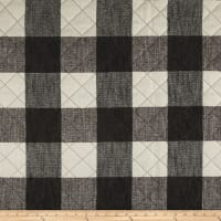 Buffalo Check Quilted Chenille Grey & Natural
