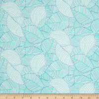 Carnivale Blue Stitched Floral Turquoise