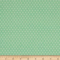 Playful Cuties Flannel Dot Mint