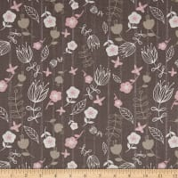 Play Day Floral Stripe Grey
