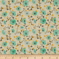 Songbirds Floral Yellow