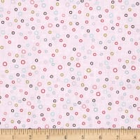 Whimsy Woodland Circle Dot LT Pink