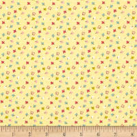Whimsy Woodland Small Leaves Yellow