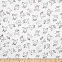 Whimsy Woodland Owls White