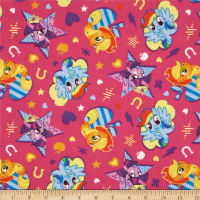 Hasbro My Little Pony Flannel Pony Cutie Toss Hot Pink (Bolt, 10 Yard)
