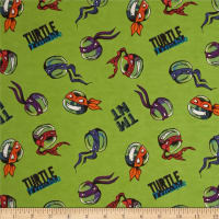 Nickelodeon TMNT Flannel Turtle Trouble Green (Bolt, 25 Yards)