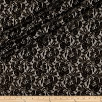 Designer Floral Lace with Glaze Black/Gold