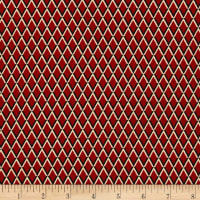 Designer Small Diamond Stretch Twill Maroon/Tan/Black