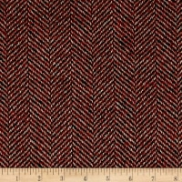 Herringbone Coating Red/Tan