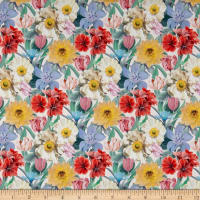 Liberty Fabrics Tana Lawn Meadow Melody Small White Multi