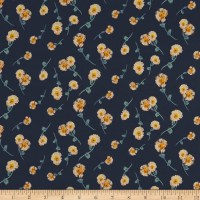 Liberty Fabrics Tana Lawn Melody Small Navy Multi