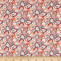 Liberty of London Tana Lawn Leaf Canopy Red