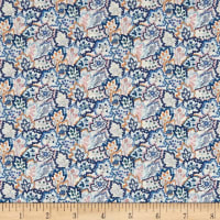 Liberty of London Tana Lawn Leaf Canopy Navy