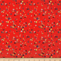 Liberty Fabrics Tana Lawn Staccato Red