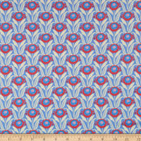 Liberty Fabrics Tana Lawn Sunflower Bloom Periwinkle