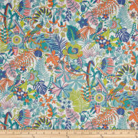 Liberty Fabrics Tana Lawn Tropical Trails Orange Multi