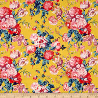 Liberty of London Tana Lawn Magical Bouquet Yellow Multi