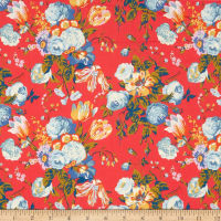 Liberty Fabrics Tana Lawn Magical Bouquet Coral Multi