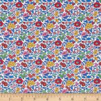 Liberty Fabrics Tana Lawn Favourite Flowers Royal Multi