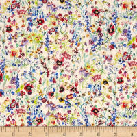 Liberty of London Tana Lawn Floral Picnic Red Multi