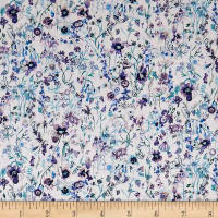 Liberty of London Tana Lawn Floral Picnic Purple Multi
