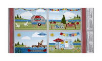 "Wilmington Let's Go Glamping Placemat 24"" Panel Multi"