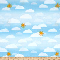 Wilmington Let's Go Glamping Sky Light Blue