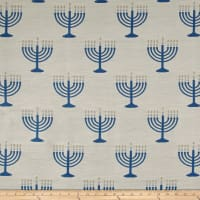 Menorah Jacquard White