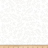 Wilmington Essential 108 Backing Mottled Leaves White on White