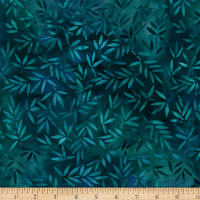 Wilmington Essential 108 Backing Mottled Leaves Dark Teal