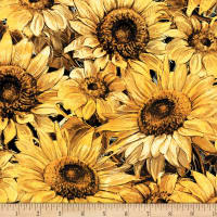 Wilmington A Bee's Life Sunflowers Black/Gold