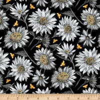 Wilmington A Bee's Life Daisy Allover Black
