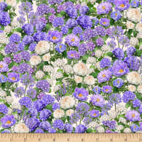 Wilmington Plumage Packed Floral Ivory/Purple