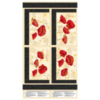 "Wilmington Scarlet Dance Placemat 23"" Panel Multi"