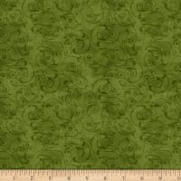 Wilmington Scarlet Dance Scroll Green